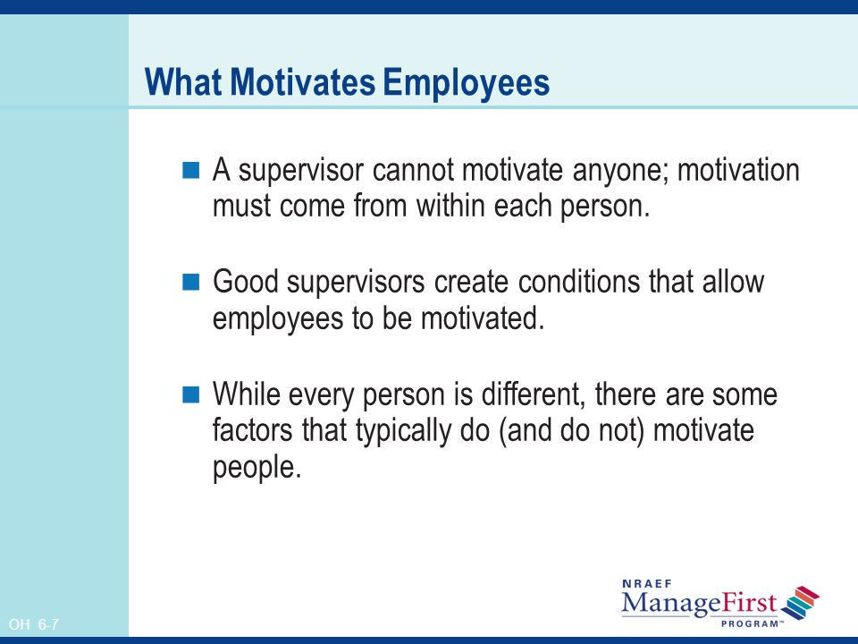 what motivates employees personal drive or Getting people to do their best work, even in trying circumstances, is one of managers' most enduring and slippery challenges indeed, deciphering what motivates us as human beings is a centuries-old puzzle.