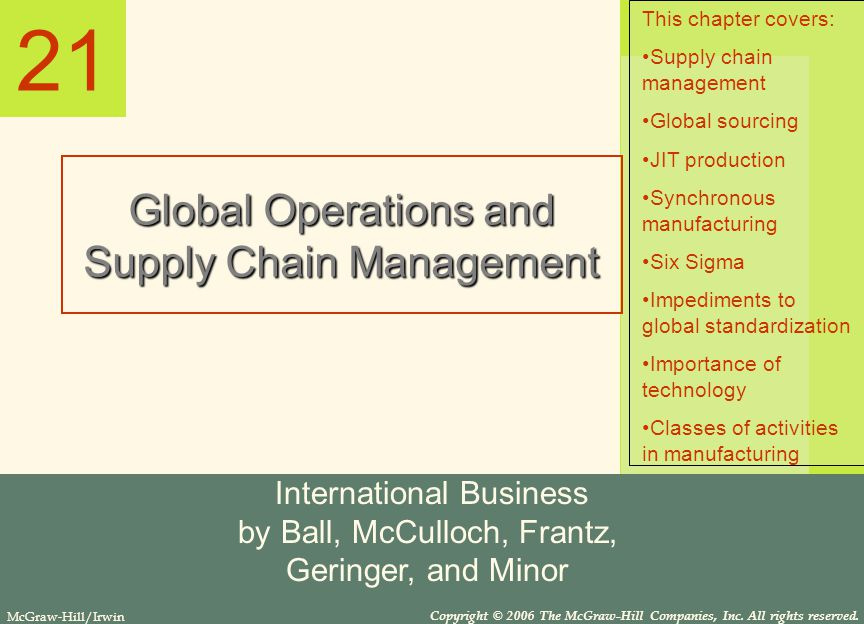 global operations and supply chain management The master of business administration with a specialization in global operations and supply chain management program at capella university is intended to prepare students for management positions.