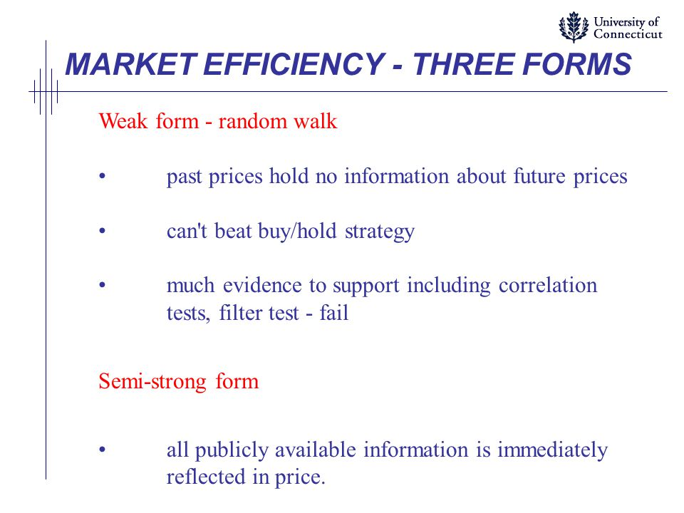 test of market efficiency Looking for online definition of market efficiency in the  they claim that the proper test of foreign exchange market efficiency should be based on the actual.
