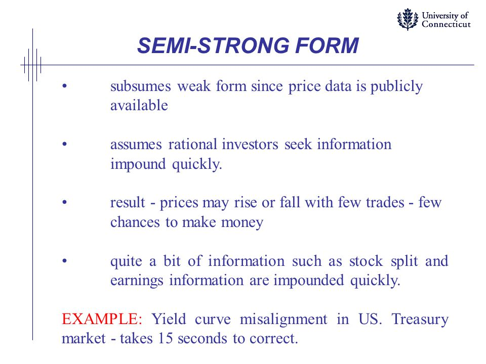 MARKET EFFICIENCY - THREE FORMS - ppt download