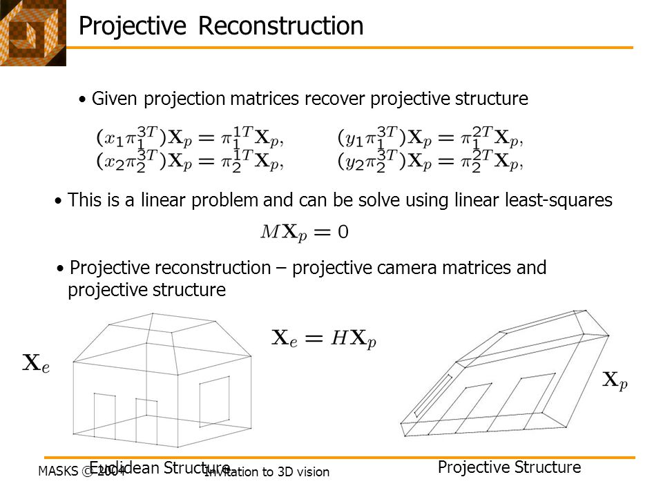 Projective Reconstruction