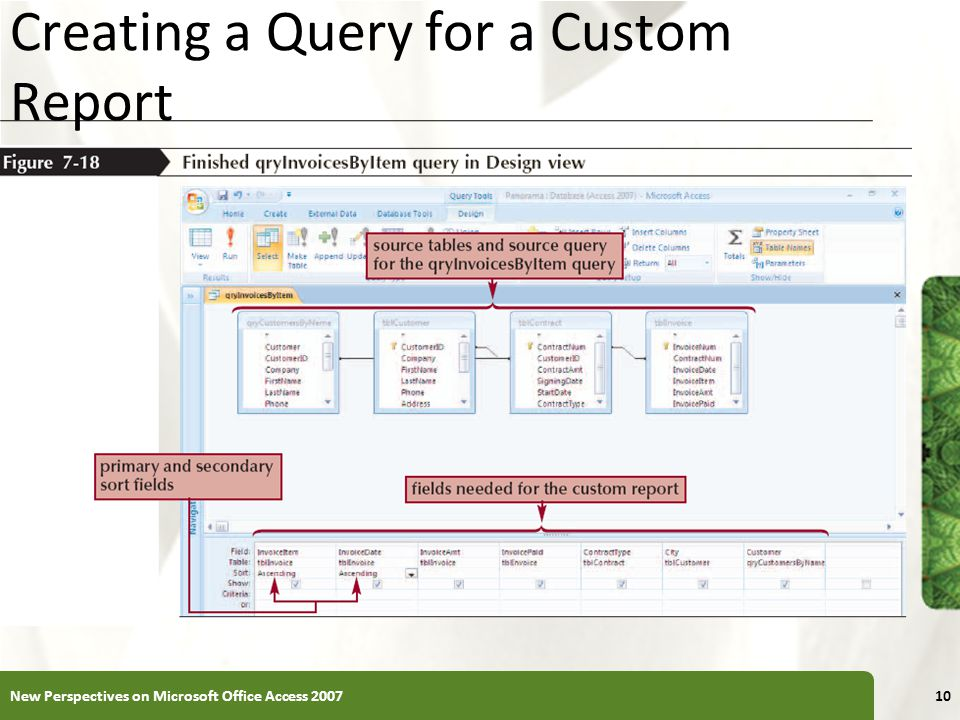 Creating a Query for a Custom Report