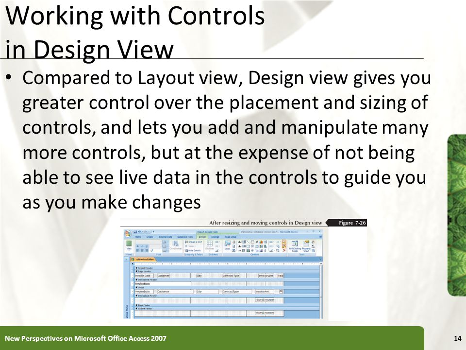 Working with Controls in Design View