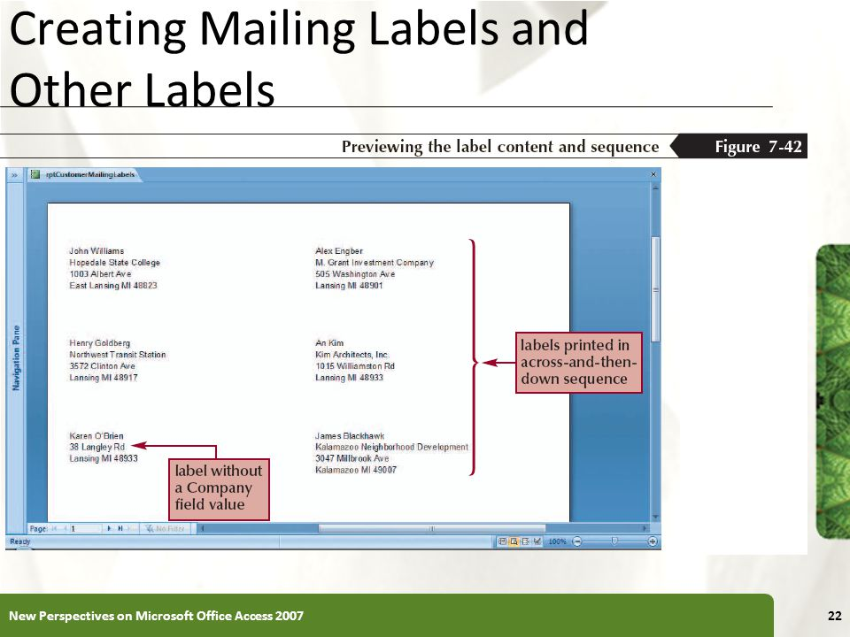 Creating Mailing Labels and Other Labels