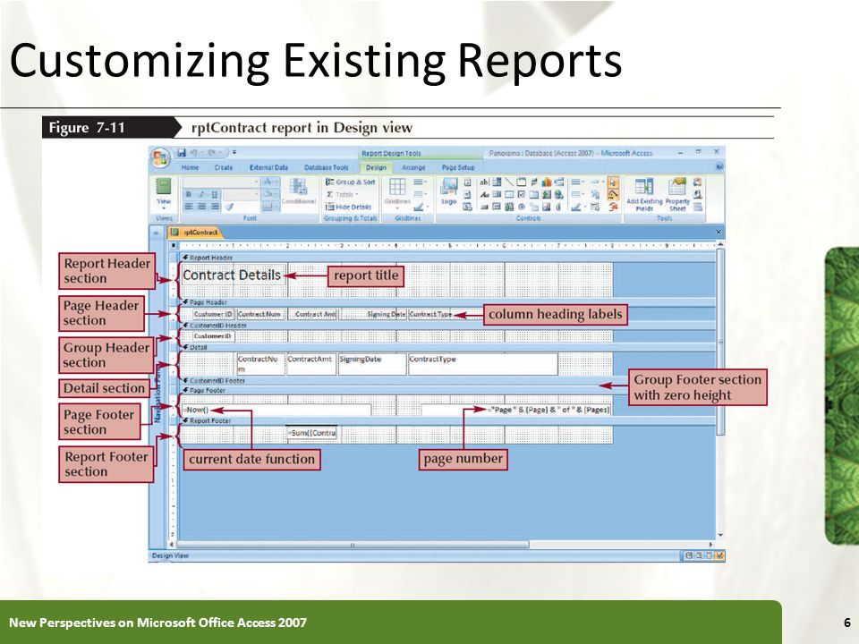 Customizing Existing Reports