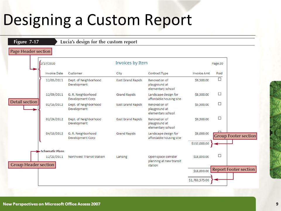Designing a Custom Report