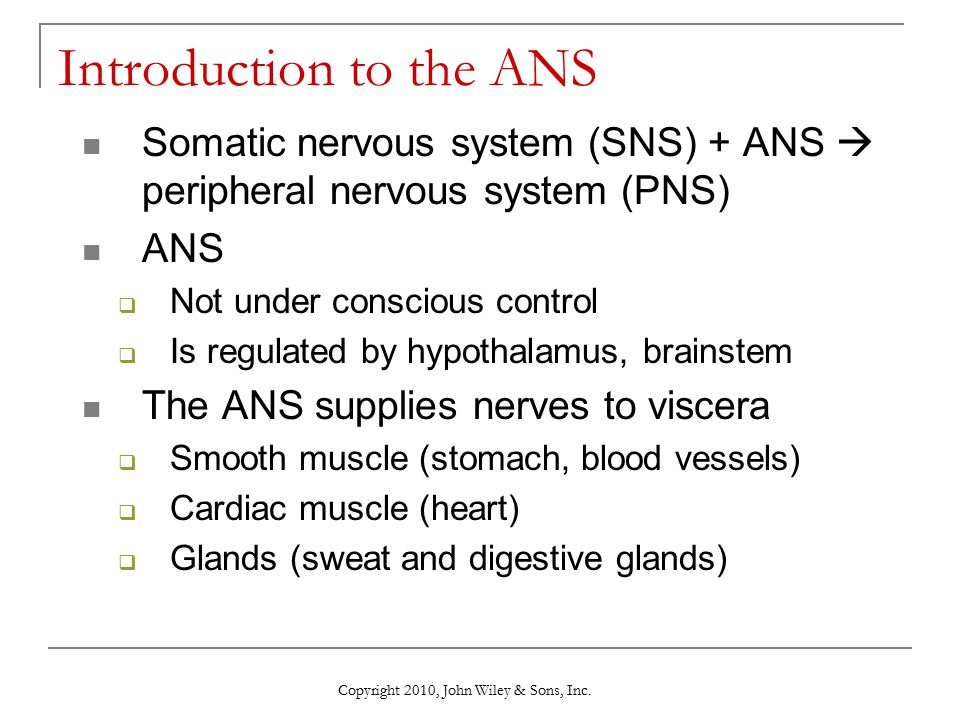 Introduction to the ANS