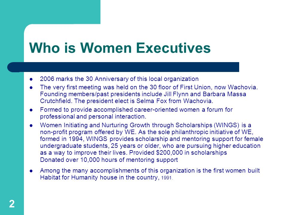 Who is Women Executives