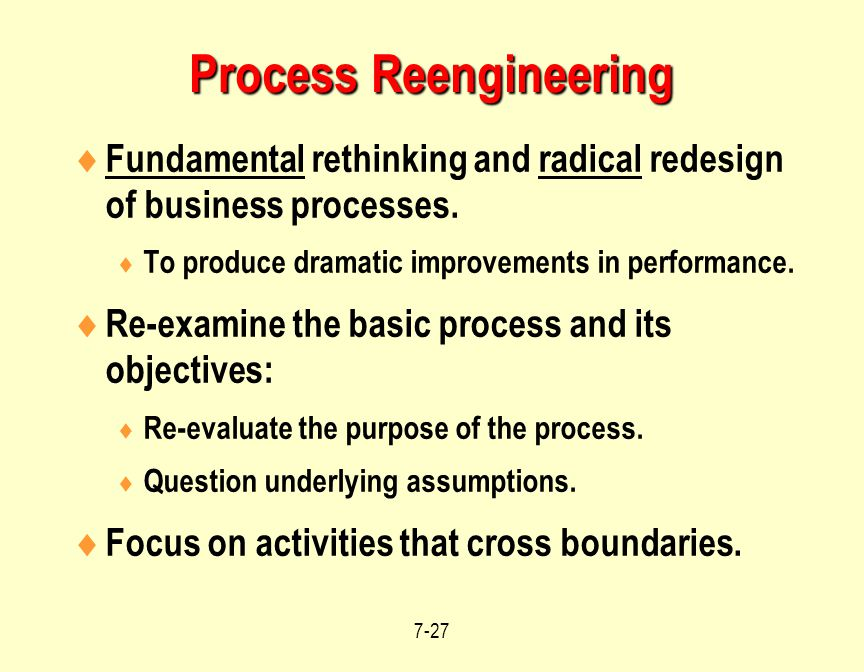 "failure stories of business process reengineering When i wrote about ""business process redesign"" in 1990, i explicitly said that   all three were repackaged as reengineering success stories."