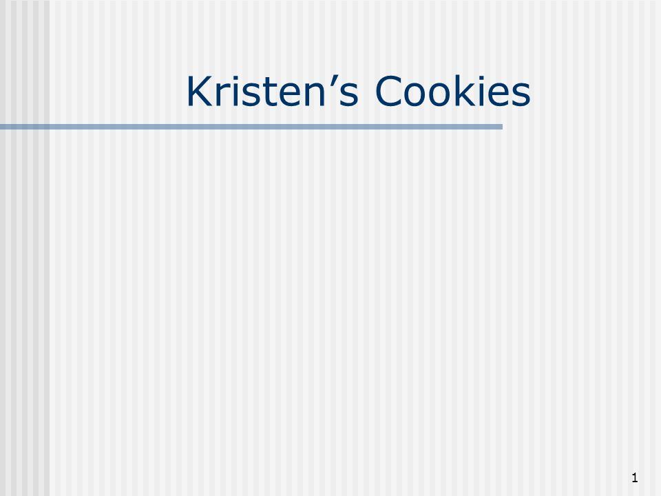 kristen s cookie case 2 group case  one group case report is due with regard to the hbs case kristen's cookie company the report should answer the questions assigned with the case, with a.