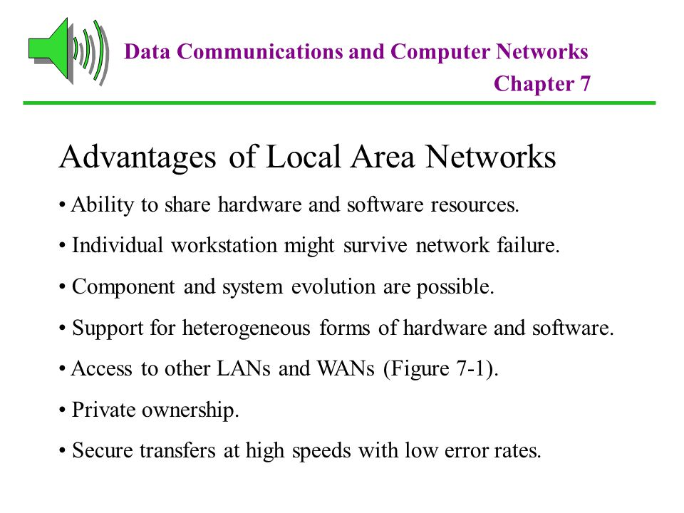 Advantages of Local Area Networks