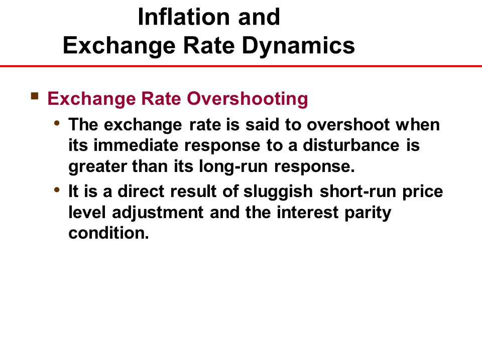 parity inflation and exchange rate 109 chapter 8 relationships among inflation, interest rates, and exchange rates lecture outline purchasing power parity (ppp) interpretations of ppp.
