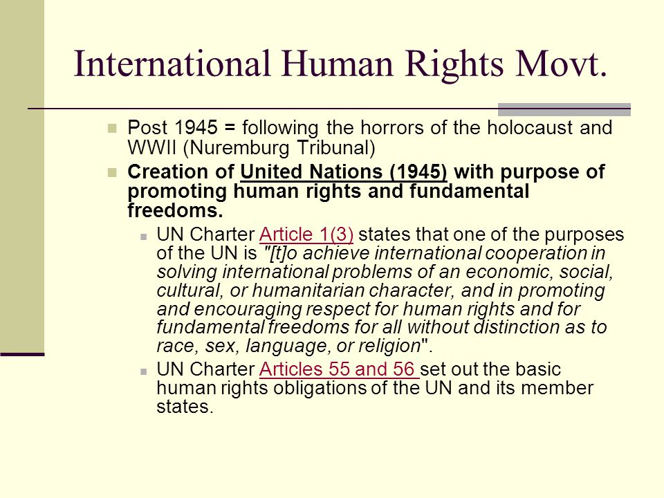 International Human Rights Movt.