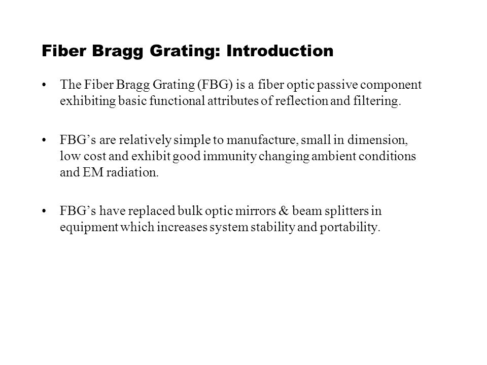 ee presentation topic fiber bragg gratings ppt video online  2 fiber