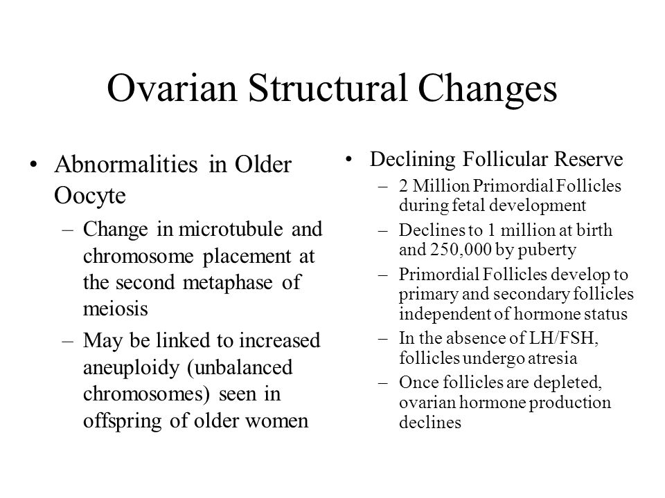 Ovarian Structural Changes