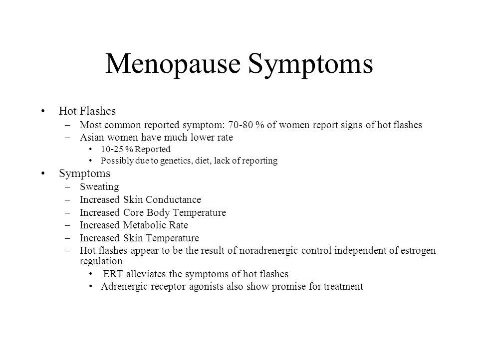 Menopause Symptoms Hot Flashes Symptoms