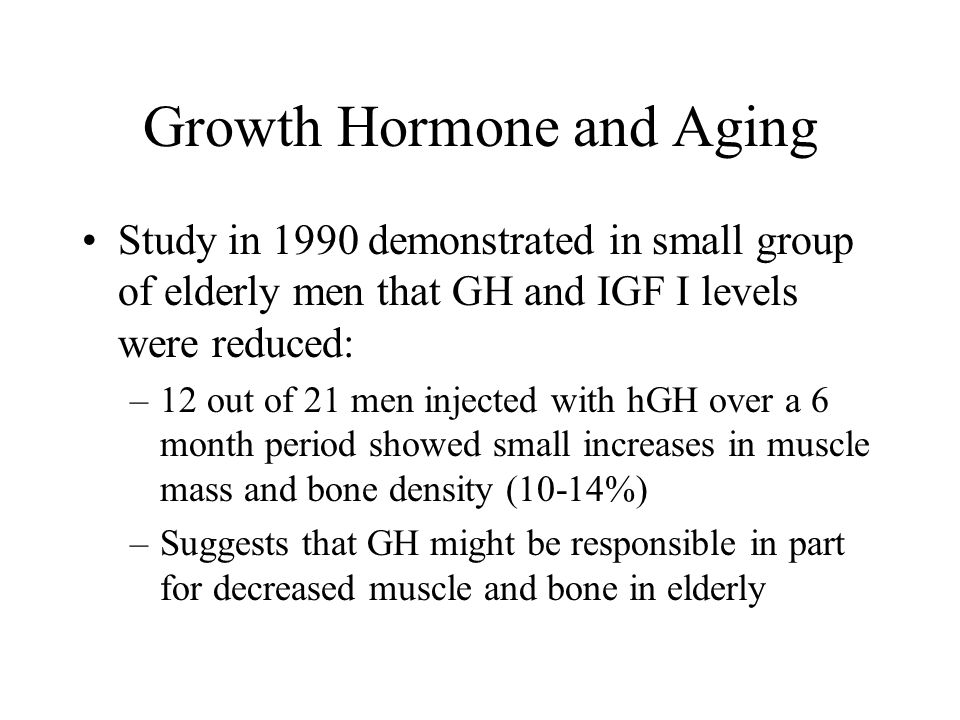 Growth Hormone and Aging