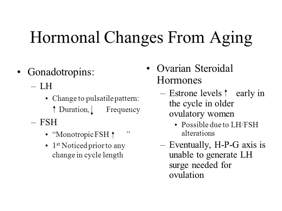 Hormonal Changes From Aging