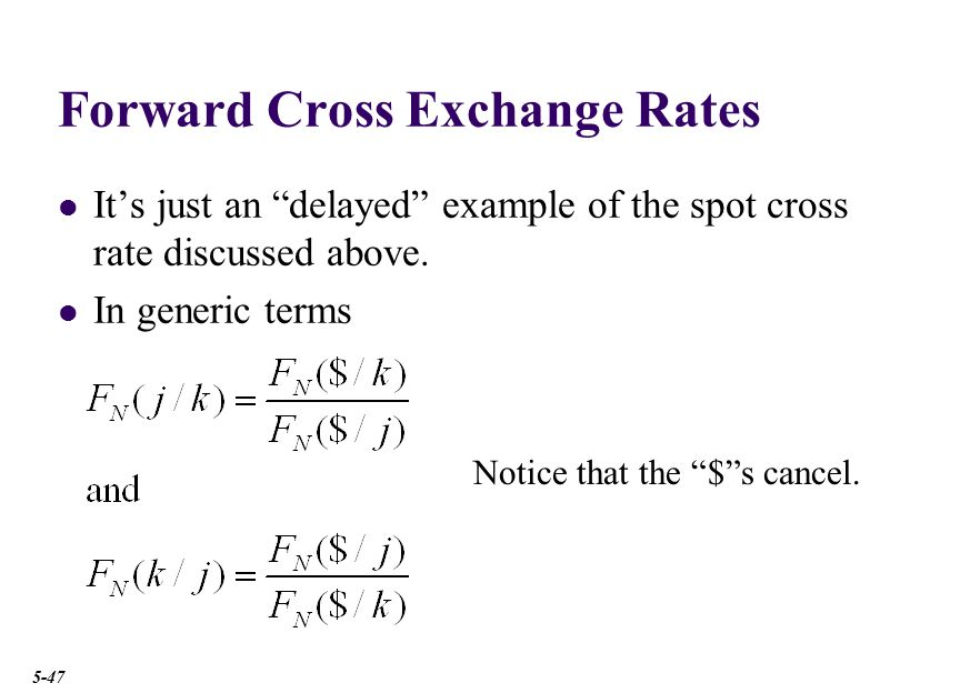 Forward Cross Rates The 3-month forward £/€ cross rate is £0.7498
