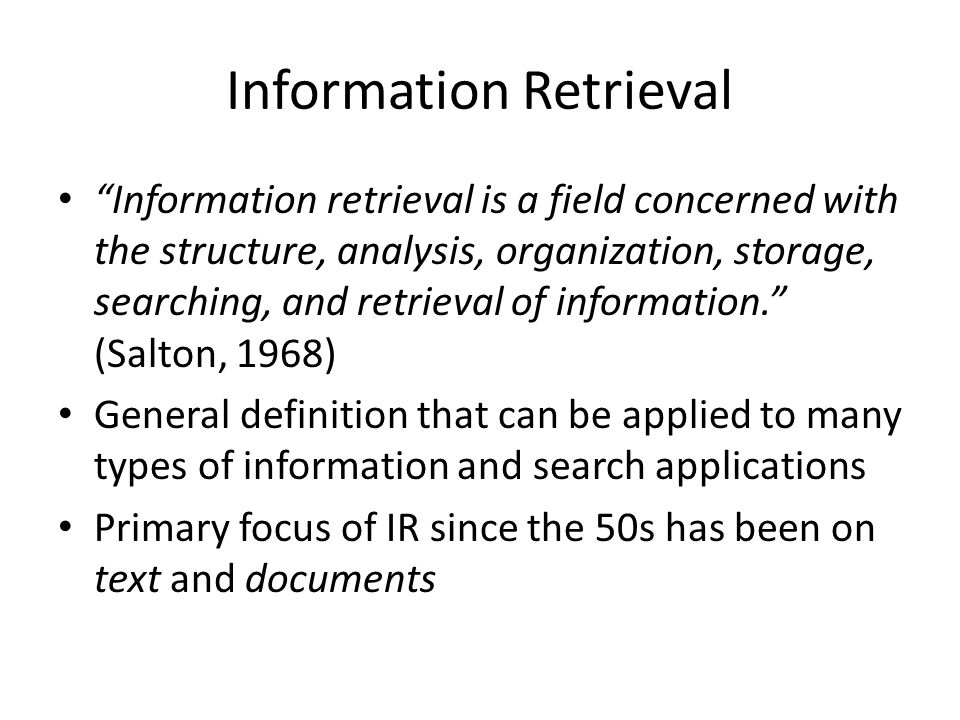 an analysis of effective information retrieval Concept-based information retrieval is an alternative ir approach that aims to   their wikipedia-esa representation was shown more effective than any other.