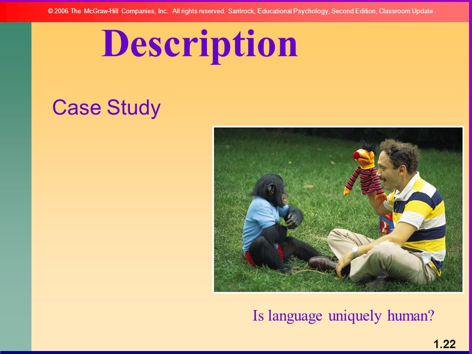 Description Case Study Is language uniquely human