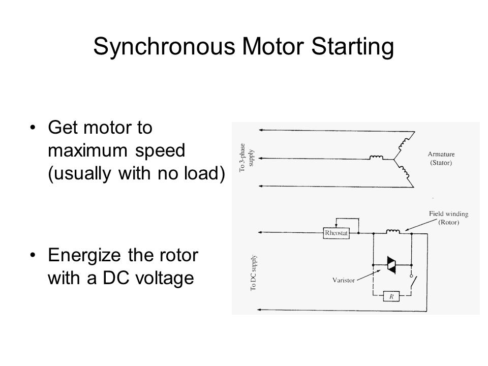 Synchronous Motor Starting