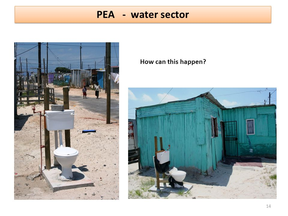 PEA - water sector How can this happen