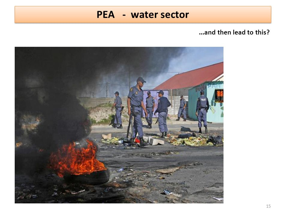 PEA - water sector ...and then lead to this