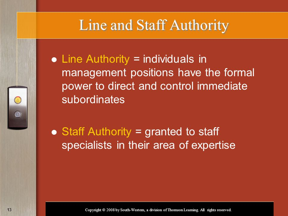 Line and Staff Authority