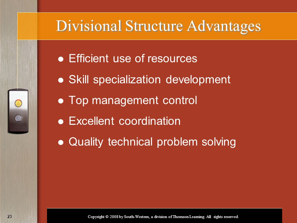 Divisional Structure Advantages
