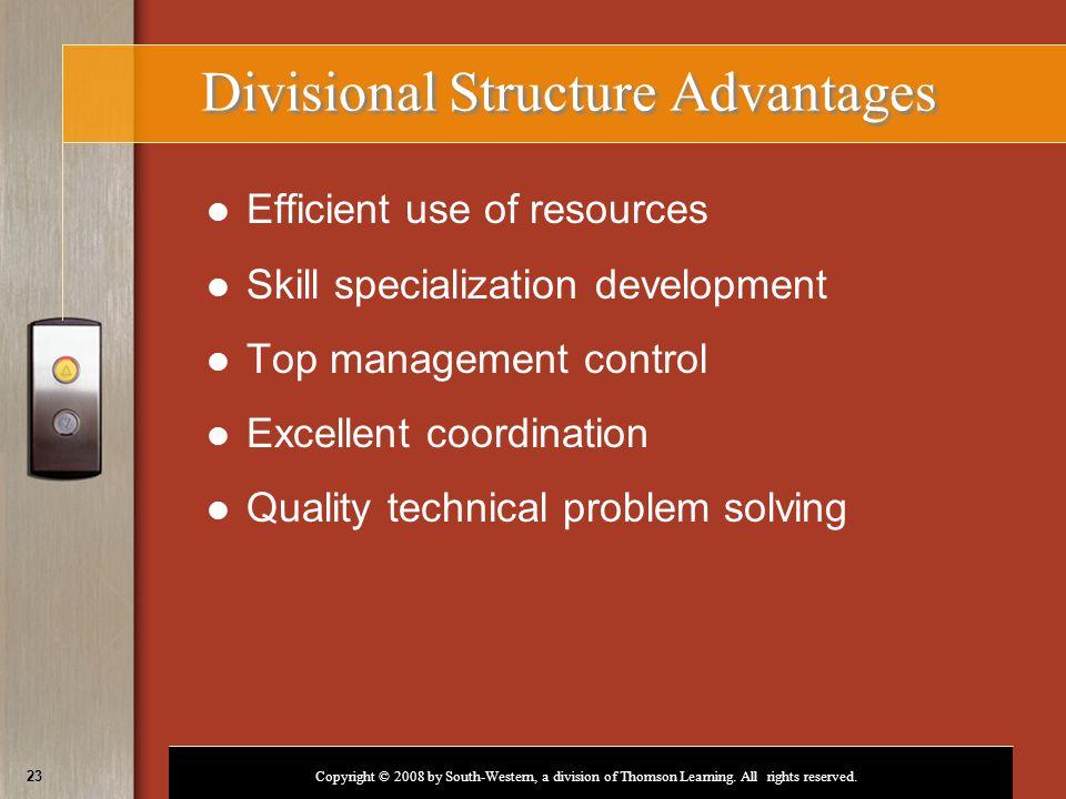 Divisional Structure Advantages