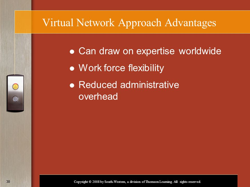 Virtual Network Approach Advantages