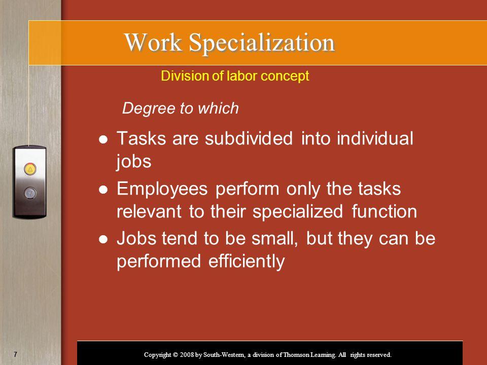 Division of labor concept