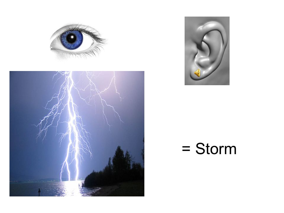 In the same way, if we hear thunder and see lightning, we know that a storm is taking place. We impose meaning on the things we see or hear and integrate that information into our working memory.