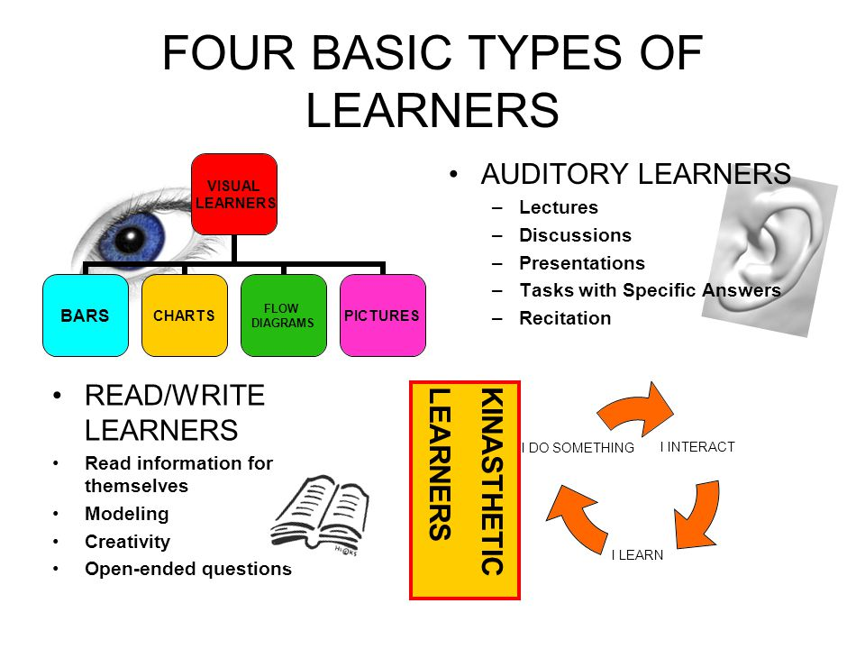 FOUR BASIC TYPES OF LEARNERS