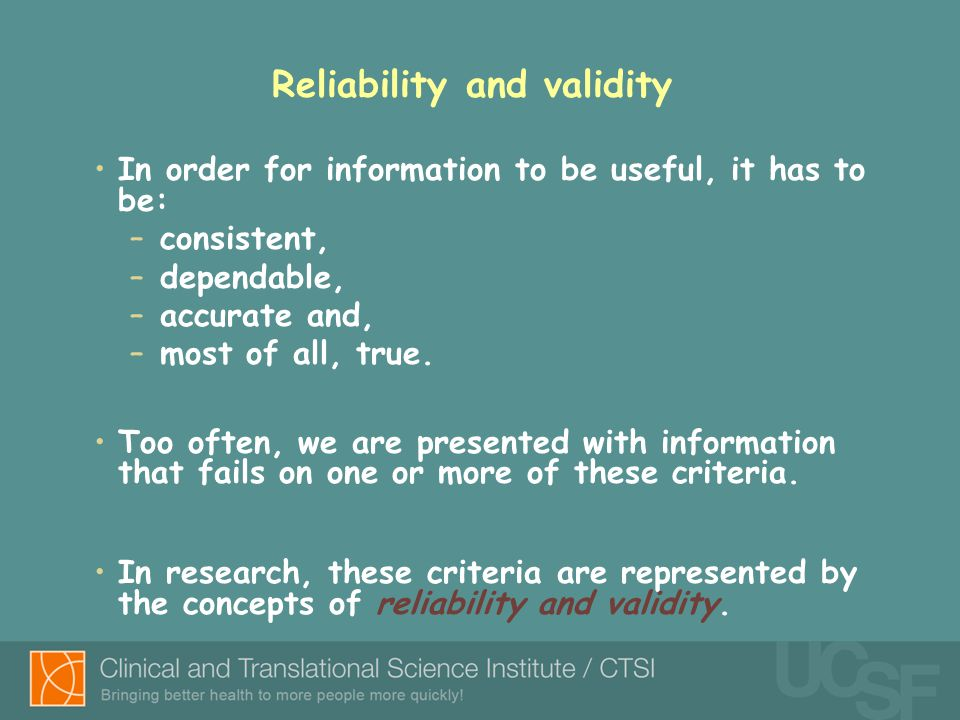 validity reliability section dissertation Find this and many other dissertations guides and resources at http:// dissertationrecipescom/ validity and reliability must be addressed in all studies.