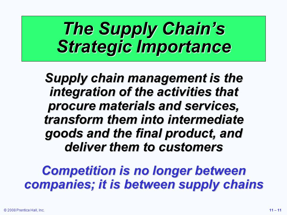the significance of supply chain to a companys success In the success stories of h&m, zara, ikea and walmart, luck is not a key factor meaning that up to 50 percent of its clothes are designed and manufactured right during the season the technical backbone of walmart's supply chain innovation is inventory management software.