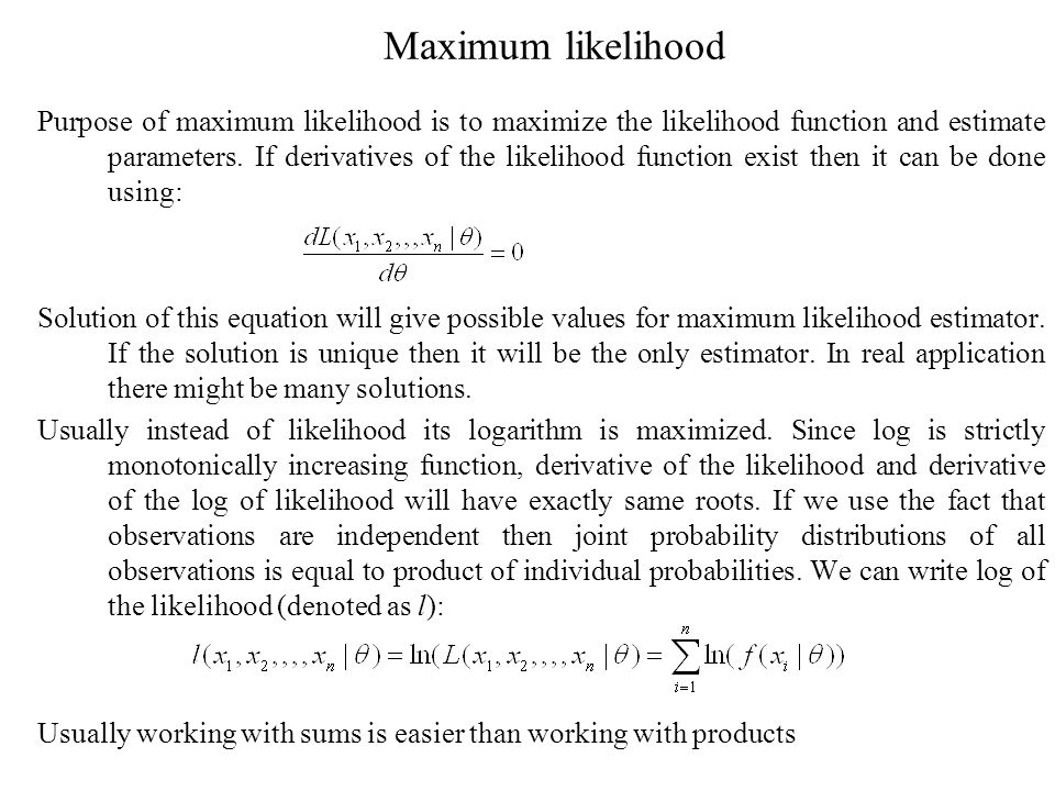Maximum likelihood