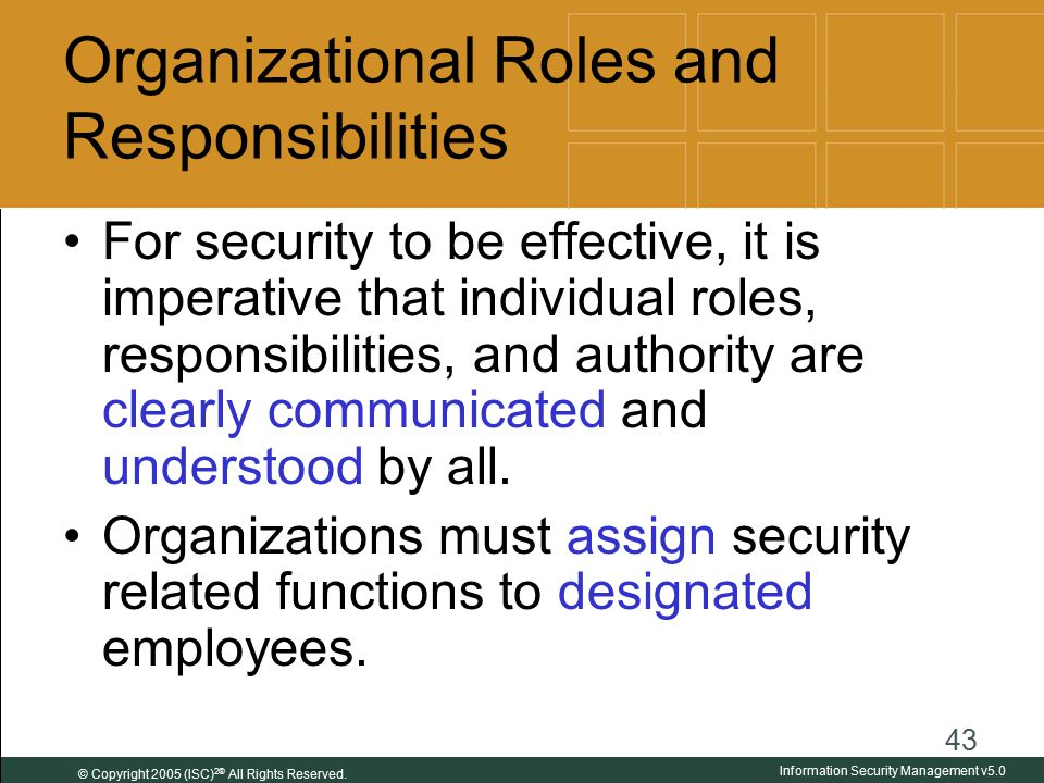 roles and responsibilities of organizational managers at apple J gregory greg apple provides six sigma green and black belt training and  project  prior to his mbb role, he was a lean six sigma black belt supporting  human  change management organizational effectiveness team  effectiveness.