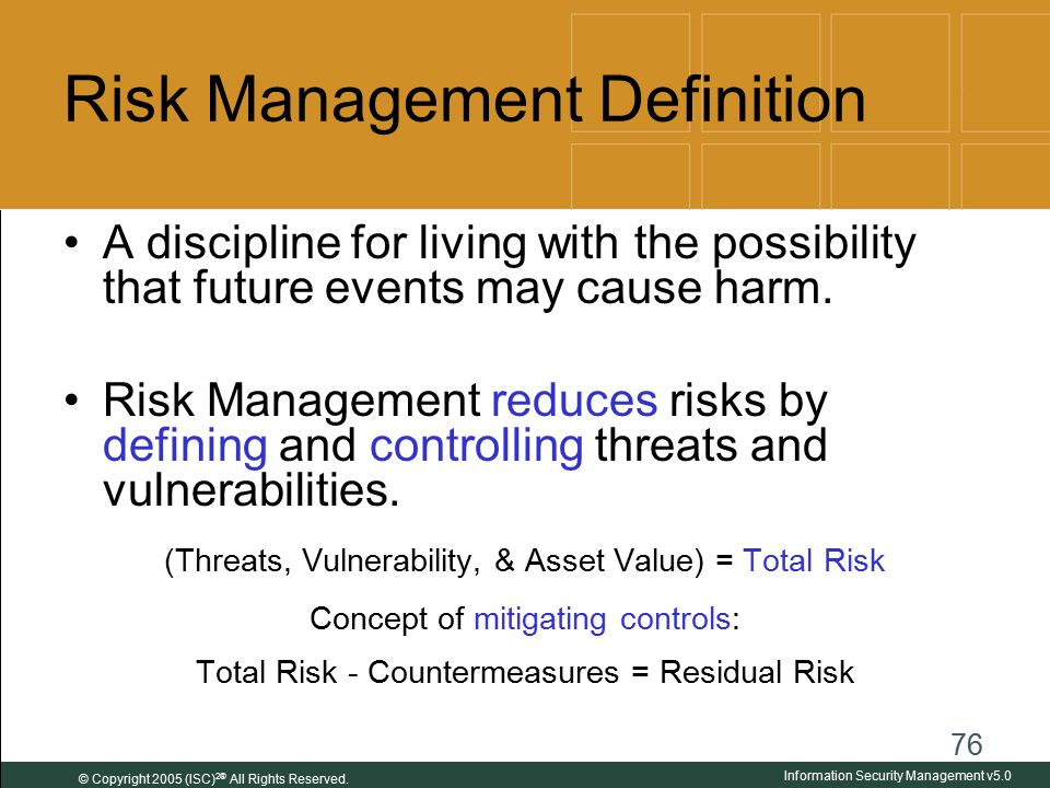 risk definitions A risk assessment matrix i is a project management tool that helps determine which risks to the project warrant preparation of a response plan the.
