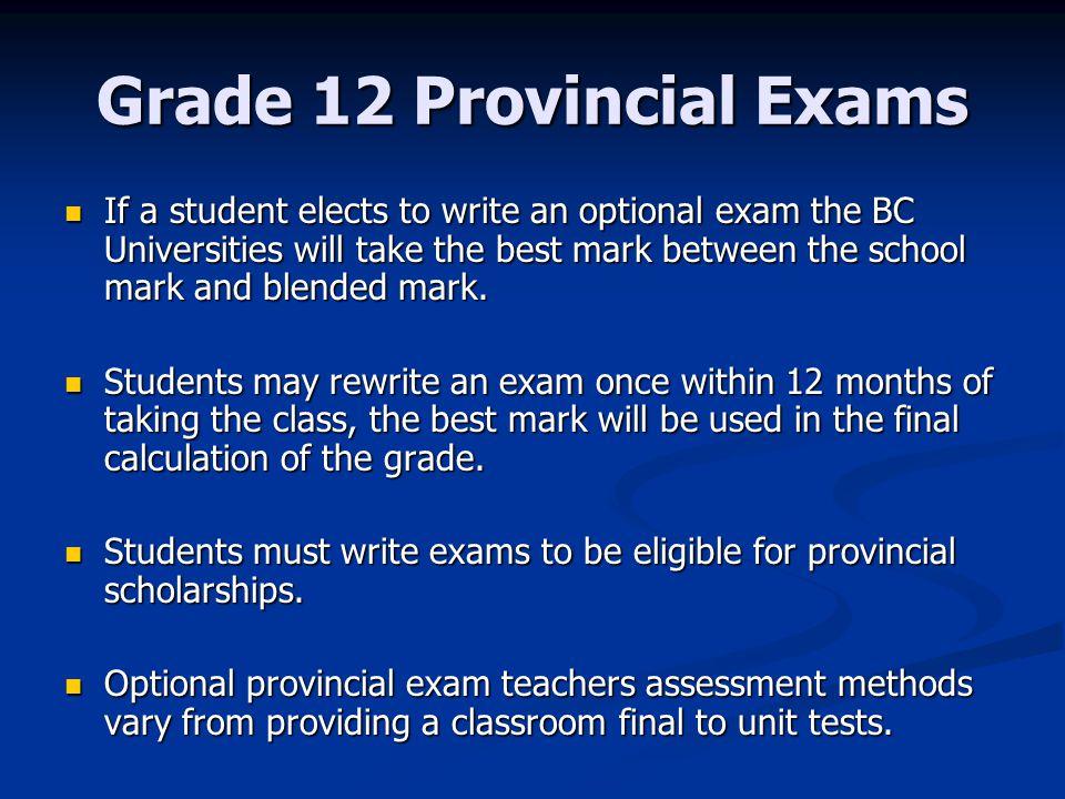 Provincial exam english 12 essay