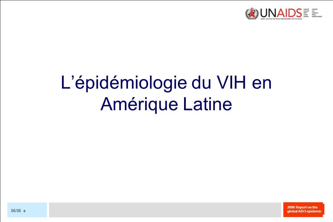 L'épidémiologie du VIH en Amérique Latine