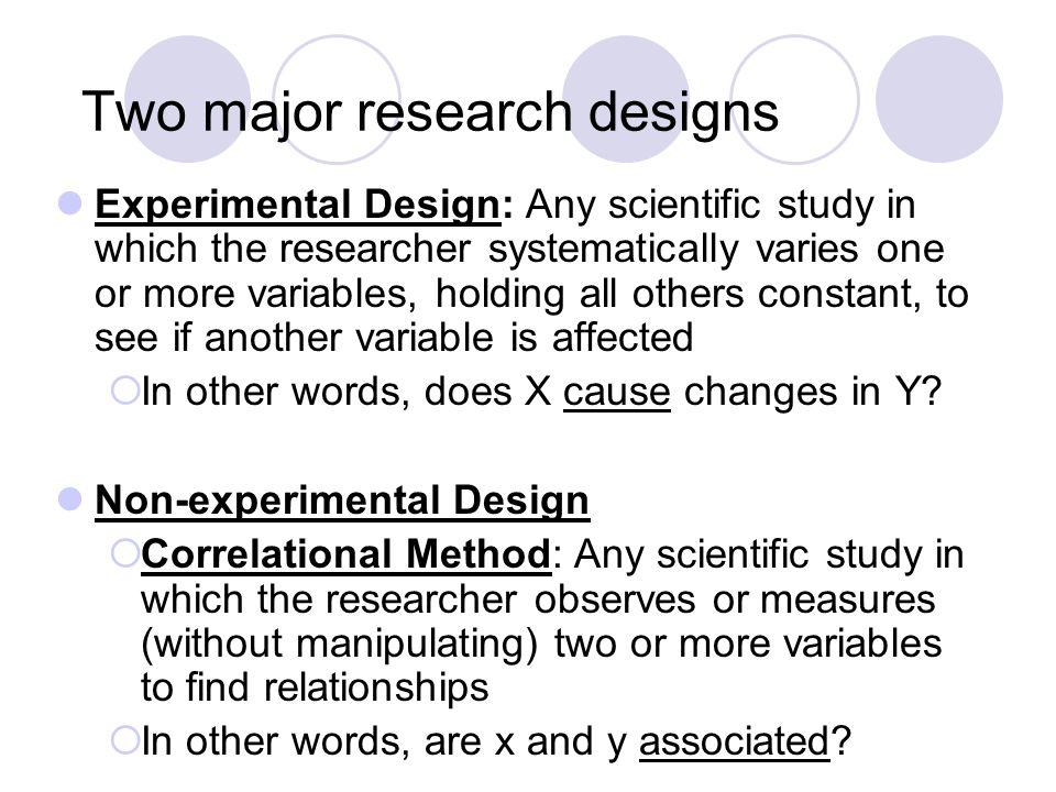 non experimental design