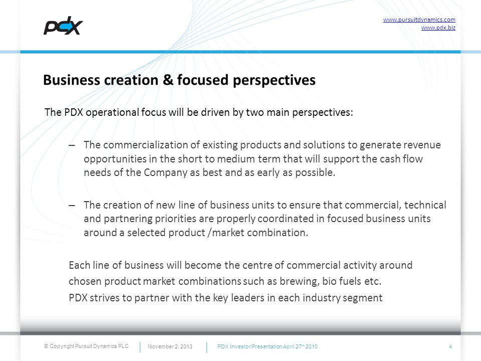 PDX Organization Model