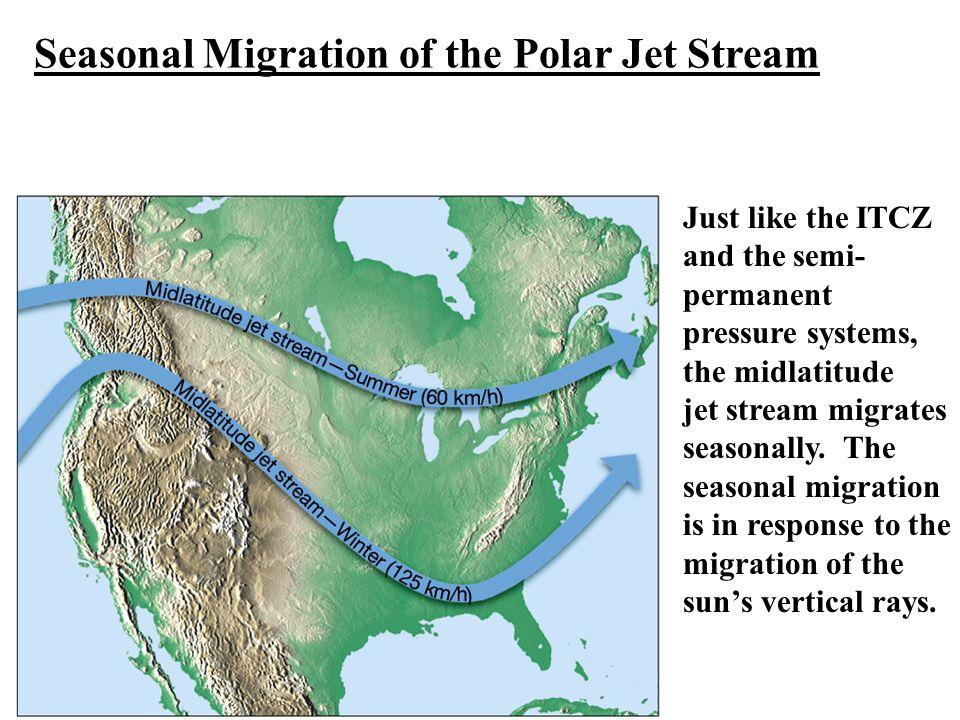 Seasonal Migration of the Polar Jet Stream
