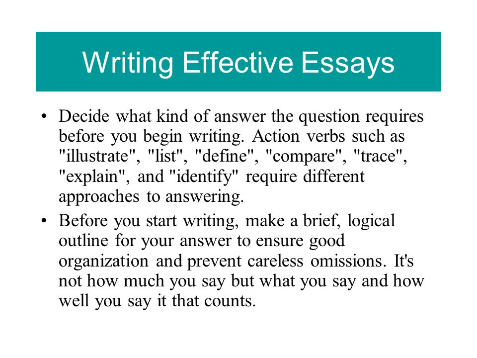 making an effective essay Your essay can give admission officers a sense of who you are, as well as  showcasing your writing skills try these tips to craft your college application  essay.