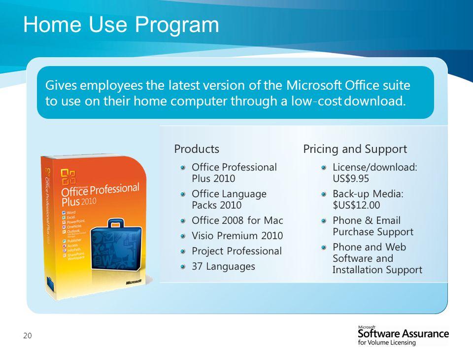 20 home use program - Microsoft Visio Home Use Program