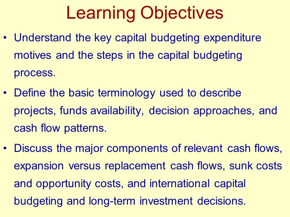 understanding the principles of budget and finance Understanding finance and accounting will equip non-financial and learn valuation principles and their impact introduction to capital budgeting.