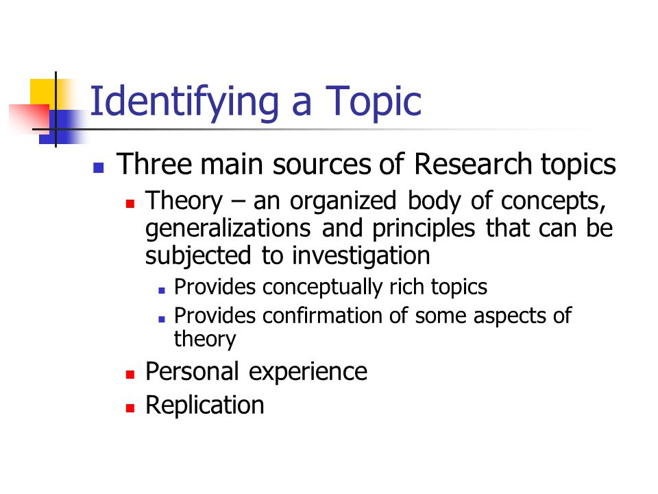 Chapter 2 Selecting and Defining a Research Topic Gay and ...