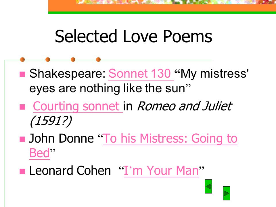 sonnet 130 my mistress eyes